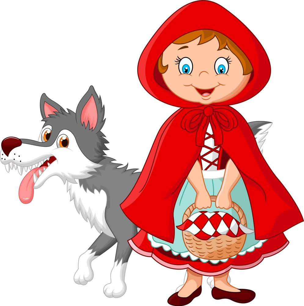 little-red-riding-hood-meeting-with-a-wolf-vector-6509719